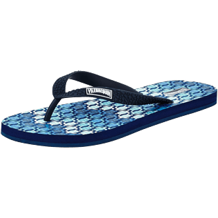Men Others Printed - Men Flip Flop Herringbones Turtles, Navy back