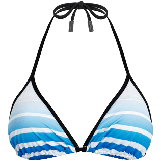 Women Tops Printed - Karl Lagerfeld Triangle bikini top, Ocean front