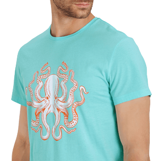 Men Others Printed - Men Cotton T-Shirt Octopussy, Lagoon supp1