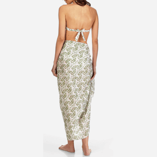 Women Others Printed - Pareo Bamboo Song, White backworn