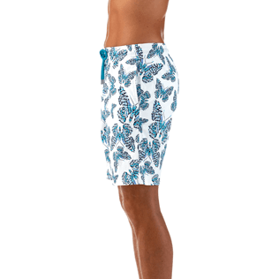 Men Long Printed - Butterflies Superflex long cut Swim shorts, Azure supp1
