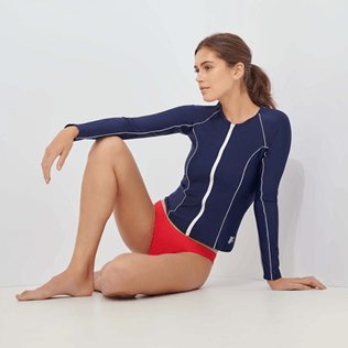 Women Others Solid - Women Rashguard Solid, Navy supp1