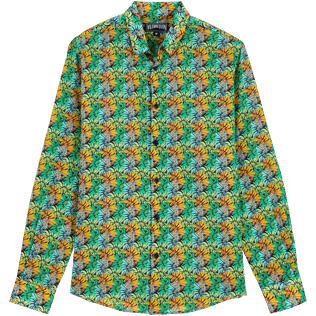 Others Printed - Unisex Cotton Voile Light Shirt Jungle, Midnight blue front