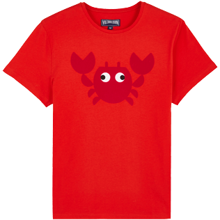 Men Others Printed - Men Cotton T-Shirt Crabs, Medicis red front