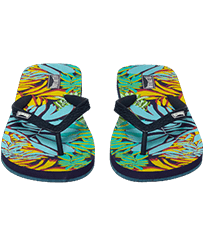 Women Others Printed - Women Flip Flops Jungle, Midnight blue frontworn