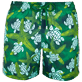Men Classic Printed - Men Swimtrunks Starlettes & Turtles Vintage, Malachite green front