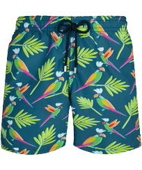 Men Classic Printed - Men Swimwear Multicolore Parrots, Goa front