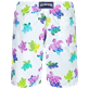 Men Long classic Printed - Men Swim Trunks Long Ronde des Tortues Aquarelle, White back