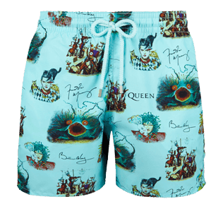 Men Classic Printed - Men swimtrunks Joker Queen, Aquamarine front