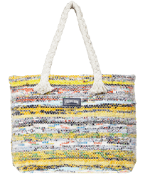 Others Printed - Large Beach Bag Eco-friendly, Yellow front