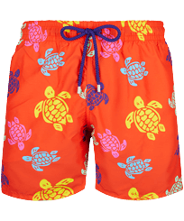 Men Classic Printed - Men Swim Trunks Tortues Multicolores, Medlar front
