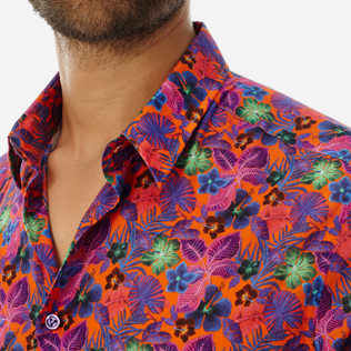 Others Printed - Unisex Cotton Shirt Porto Rico, Bright orange supp1