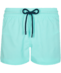 Men Short classic Solid - Men Swimwear Short and Fitted Stretch Solid, Lagoon front