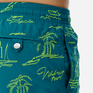 Men Embroidered Embroidered - Men Embroidered Swimwear St Tropez - Limited Edition, Pine wood supp1