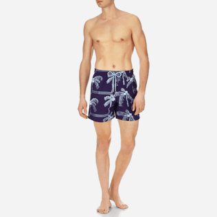 Men Embroidered Embroidered - Men Swimtrunks Embroidered Palmiers - Limited Edition, Amethyst frontworn