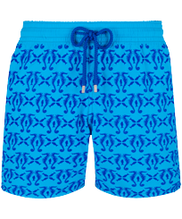 Men Classic Printed - Men Swim Trunks Flocked Hippocampes, Swimming pool front