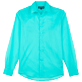 Others Solid - Unisex Cotton Voile Light Shirt Solid, Lagoon front