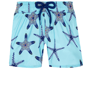 Girls Others Printed - Girls Light fabric Swim Short Starfish Dance, Lazulii blue front