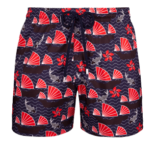 Men Ultra-light classique Printed - Men Ultra-Light and packable swimtrunks Hong Kong, Navy front