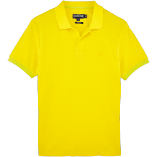 Men Others Solid - Men Cotton Pique Polo shirt Solid, Lemon front