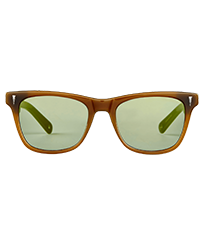 Others Solid - Unisex Sunglasses Petrol Mirror, Khaki front