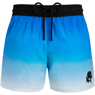 Men Stretch classic Printed - Karl Lagerfeld Superflex Swim shorts, Ocean front