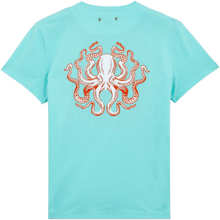 Men Others Printed - Men Cotton T-Shirt Octopussy, Lagoon back