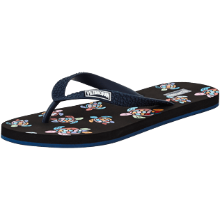 Hombre Autros Estampado - Chanclas con estampado Over the Rainbow Turtles para hombre, Negro back