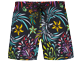 Girls Others Printed - Stretch Girls Swim Short Evening Birds, Black front