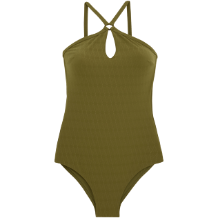 Women One Piece Solid - Jacquard V71 One piece, Khaki front