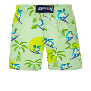 Boys Others Printed - Boys Swimwear Surfing Turtles, Aloe back