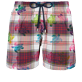 Men Ultra-light classique Graphic - Men Swim Trunks Ultra-light and packable Carreaux & Turtles, Multicolor front