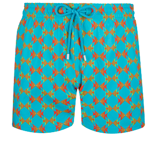 Homme CLASSIQUE STRETCH Imprimé - Maillot de bain Homme Stretch Fishes in Love, Azurin front