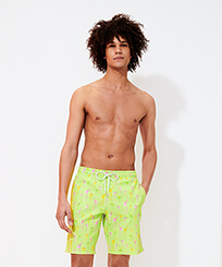 Men Long classic Printed - Men Long Stretch Swimwear Giaco Elephant, Coriander frontworn