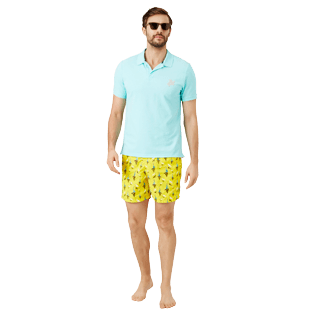 Men Classic Embroidered - Men Swim Trunks Embroidered Bateaux sur l'eau - Limited Edition, Buttercup yellow supp2