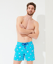 Men 017 Embroidered - Men Swim Trunks Embroidered - Limited Edition, Horizon frontworn