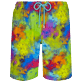 Hombre Clásico largon Estampado - Men Swimwear Long Holi Party, Batik azul front
