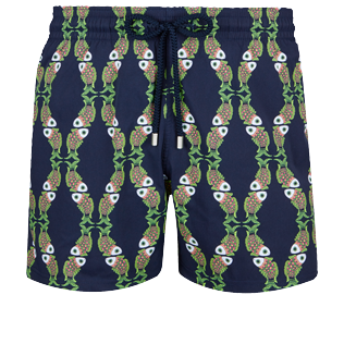 Men Stretch classic Printed - Men Swim Trunks Stretch Sweet Fishes, Navy front