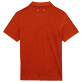 Men Others Solid - Men Linen Jersey Polo Shirt Solid, Paprika back