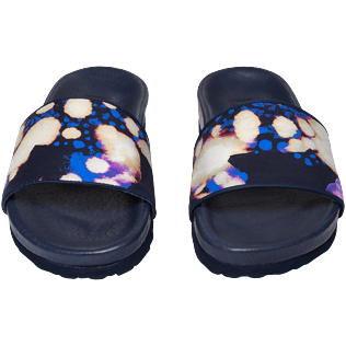 Women Others Solid - Women Beach Sandals Watercolor W's Slide, Navy frontworn