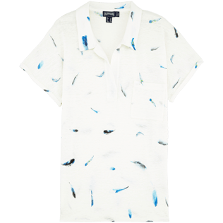 Donne Polo Stampato - Polo in jersey Blue Breath, Bianco front