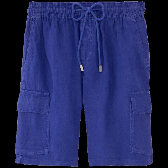 Vilebrequin - Bermuda poches cargo en Lin Homme Uni - 1