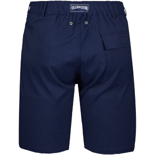 Men Others Solid - Men swimwear fabric straight Bermuda Shorts Solid, Navy back