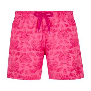 Boys Others Printed - Boys Swim Trunks Water-Reactive Shellfish and Turtles, Cherry blossom frontworn