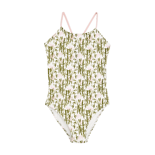 Girls Others Printed - Girls One Piece Swimsuit Bamboo Song, Peony front