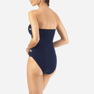 Women One Piece Embroidered - Blue Breath Embroidered One piece, Navy supp4