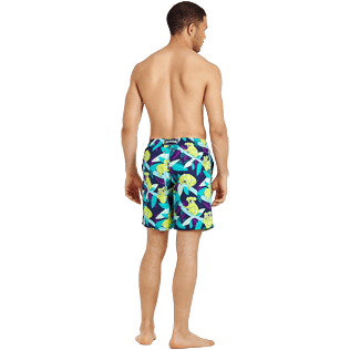 Men Long classic Printed - Men Swimtrunks Long Koalas, Navy backworn