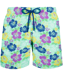 Men Classic Printed - Men Swimwear Tropical turtles, Cardamom front