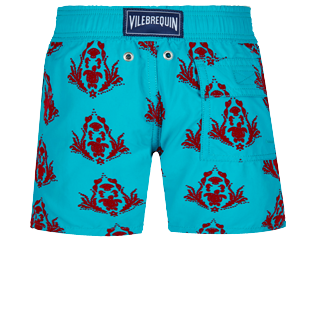 Boys Others Printed - Boys Swim Trunks Floked Pranayama, Light azure back