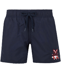 Boys Others Embroidered - Boys Swim Trunks The Year Of The Rat, Navy front